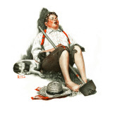 """Lazybones"", September 6,1919 Giclee Print by Norman Rockwell"