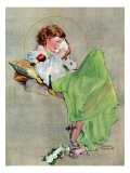 """Diary"", June 17,1933 Reproduction procédé giclée par Norman Rockwell"