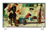 """The New Tavern Sign"", February 22,1936 Reproduction procédé giclée par Norman Rockwell"