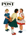 """Missing tooth"" Saturday Evening Post Cover, September 7,1957 Giclee Print by Norman Rockwell"