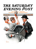 &quot;Baby Carriage&quot; Saturday Evening Post Cover, May 20,1916 Giclee Print by Norman Rockwell