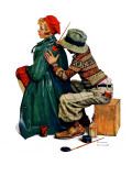 """Young Artist"" or ""She's My Baby"", June 4,1927 Giclee Print by Norman Rockwell"