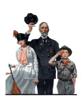 """Salute to Colors"", May 12,1917 Giclee Print by Norman Rockwell"