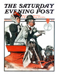 """Speeding Along"" Saturday Evening Post Cover, July 19,1924 Giclee Print by Norman Rockwell"