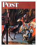 """Circus Artist"" Saturday Evening Post Cover, May 3,1947 Giclee Print by Norman Rockwell"