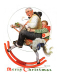 """Gramps on Rocking Horse"", December 16,1933 Reproduction procédé giclée par Norman Rockwell"