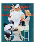 &quot;Full Treatment&quot; Saturday Evening Post Cover, May 18,1940 Giclee Print by Norman Rockwell