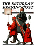 """Army March"" or ""Grand Reception"" Saturday Evening Post Cover, November 8,1924 Giclee Print by Norman Rockwell"