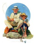 """Catching the Big One"", August 3,1929 Giclee Print by Norman Rockwell"
