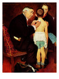 """Doc Melhorn and the Pearly Gates"", December 24,1938 Giclee Print by Norman Rockwell"