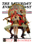 """Three Victorian Musicians"" Saturday Evening Post Cover, December 12,1931 Giclee Print by Norman Rockwell"