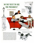 """So You Want to See the President"" A, November 13,1943 Giclee Print by Norman Rockwell"
