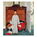 """""""Truth about Santa"""" or """"Discovery"""", December 29,1956 Giclée-Druck von Norman Rockwell"""