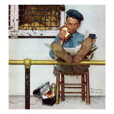 """Lion and His Keeper"", January 9,1954 Impression giclée par Norman Rockwell"