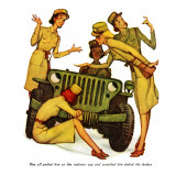 """The Wonderful Life of Wilbur the Jeep"" B Reproduction procédé giclée par Norman Rockwell"