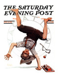 """Summer Vacation, 1923"" Saturday Evening Post Cover, June 23,1923 Reproduction procédé giclée par Norman Rockwell"