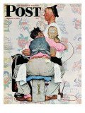 """Tattoo Artist"" Saturday Evening Post Cover, March 4,1944 Reproduction procédé giclée par Norman Rockwell"