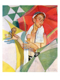 """Melting Ice Cream"" or ""Joys of Summer"", July 13,1940 Impression giclée par Norman Rockwell"