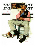 """Sheriff and Prisoner"" Saturday Evening Post Cover, November 4,1939 Giclee Print by Norman Rockwell"