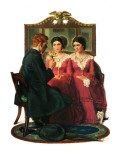 """Man Courting Two Sisters"", May 4,1929 Giclee Print by Norman Rockwell"