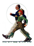 &quot;Hikers&quot;, May 5,1928 Giclee Print by Norman Rockwell