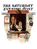 &quot;Ticket Agent&quot; Saturday Evening Post Cover, April 24,1937 Giclee Print by Norman Rockwell