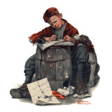 """Pen Pals"", January 17,1920 Giclee Print by Norman Rockwell"