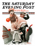"""Cave of the Winds"" Saturday Evening Post Cover, August 28,1920 Giclee Print by Norman Rockwell"
