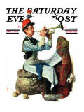 """Trumpeter"" Saturday Evening Post Cover, November 7,1931 Impression giclée par Norman Rockwell"