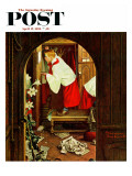 """Choirboy"" Saturday Evening Post Cover, April 17,1954 Giclee Print by Norman Rockwell"