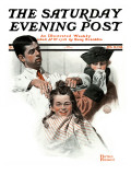 &quot;First Haircut&quot; Saturday Evening Post Cover, August 10,1918 Giclee Print by Norman Rockwell