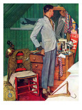"""Imperfect Fit"", December 15,1945 Giclee Print by Norman Rockwell"