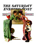 """First Day of School"" or ""Back to School"" Saturday Evening Post Cover, September 14,1935 Giclee Print by Norman Rockwell"