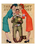 """Willie Gillis at the U.S.O."" Saturday Evening Post Cover, February 7,1942 Reproduction procédé giclée par Norman Rockwell"