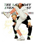"""""""100th Anniversary of Baseball"""" Saturday Evening Post Cover  July 8 1939"""
