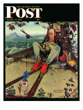 """April Fool, 1945"" Saturday Evening Post Cover, March 31,1945 Giclee Print by Norman Rockwell"