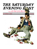 &quot;Defeated Suitor&quot; Saturday Evening Post Cover, October 2,1926 Giclee Print by Norman Rockwell
