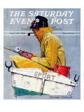"""Sport"" Saturday Evening Post Cover, April 29,1939 Giclée-Druck von Norman Rockwell"
