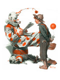 """Circus"" or ""Meeting the Clown"", May 18,1918 Giclee Print by Norman Rockwell"