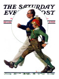 """Hikers"" Saturday Evening Post Cover, May 5,1928 Impression giclée par Norman Rockwell"