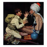 """Willie's Rope Trick"", June 26,1943 Giclee Print by Norman Rockwell"