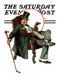 """Country Gentleman"" Saturday Evening Post Cover, July 11,1925 Giclee Print by Norman Rockwell"
