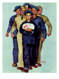 """Willie Gillis' Package from Home"", October 4,1941 Giclee Print by Norman Rockwell"