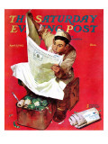 """Willie Gillis on K.P"" Saturday Evening Post Cover, April 11,1942 Giclee Print by Norman Rockwell"