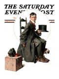 """Boy Taking His Self-Portrait"" Saturday Evening Post Cover, April 18,1925 Giclee Print by Norman Rockwell"