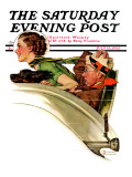 """Exhilaration"" Saturday Evening Post Cover, July 13,1935 Giclee Print by Norman Rockwell"