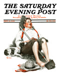 """Lazybones"" Saturday Evening Post Cover, September 6,1919 Giclee Print by Norman Rockwell"