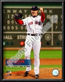 Jon Lester's 2008 No hitter Celebration; Vertical with Overlay Posters