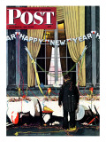 """Party's Over"" or ""Happy New Year"" Saturday Evening Post Cover, December 29,1945 Giclee Print by Norman Rockwell"