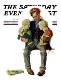 """Delivering Two Busts"" Saturday Evening Post Cover, April 18,1931 Giclee Print by Norman Rockwell"